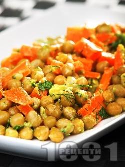 Салата от грах, моркови и авокадо - снимка на рецептата